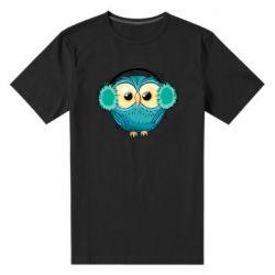 Мужская стрейчевая футболка Winter owl