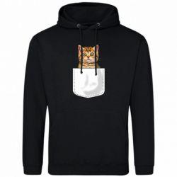 Мужская толстовка Cat in your pocket