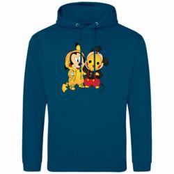 Мужская толстовка Mickey and Pikachu