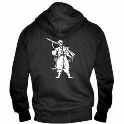 Мужская толстовка на молнии Cossack with a gun