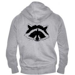 Чоловіча толстовка на блискавці Cute raccoon face