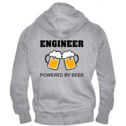 Чоловіча толстовка на блискавці Engineer Powered By Beer