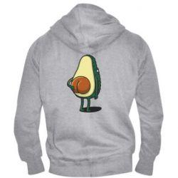 Чоловіча толстовка на блискавці Funny avocado