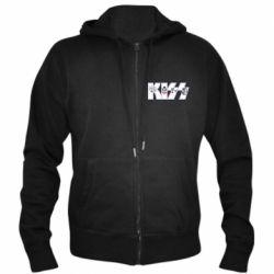Чоловіча толстовка на блискавці Kiss the music band