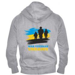 Чоловіча толстовка на блискавці War veteran оf Ukraine