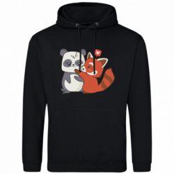 Чоловіча толстовка Panda and fire panda