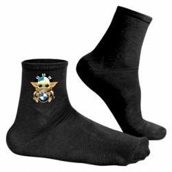 Чоловічі шкарпетки Baby yoda bmw