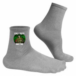 Чоловічі шкарпетки Call of duty Warzone ghost green background