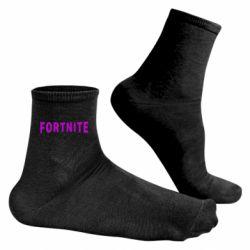 Чоловічі шкарпетки Fortnite purple logo text