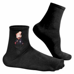 Чоловічі шкарпетки Girl in a jacket