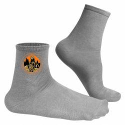 Чоловічі шкарпетки Go outside worst case scenario a bear kills you
