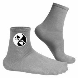 Чоловічі шкарпетки інь янь лапки