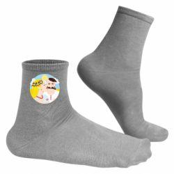 Чоловічі шкарпетки Пара козак і козачка.