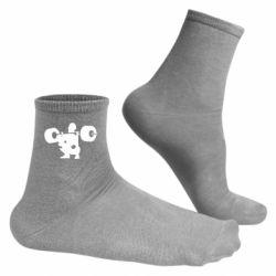 Чоловічі шкарпетки Присідання зі штангою