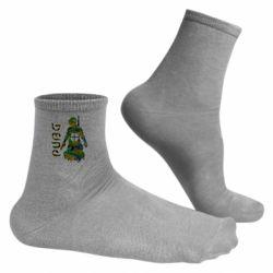 Чоловічі шкарпетки Pubg camouflage silhouette