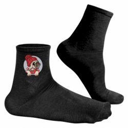 Чоловічі шкарпетки Pug And Coffee