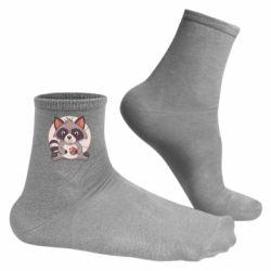 Чоловічі шкарпетки Raccoon with cookies