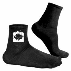 Чоловічі шкарпетки Риба на гачку