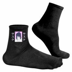 Чоловічі шкарпетки Saske Naruto and hieroglyphs
