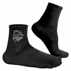 Чоловічі шкарпетки Skull with scythe