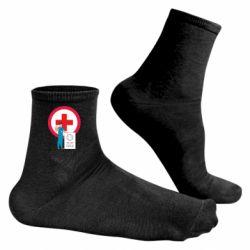 Чоловічі шкарпетки Stop virus and doctor