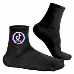 Чоловічі шкарпетки Tik tock glitch ring
