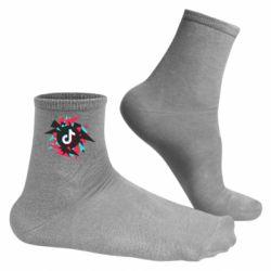 Чоловічі шкарпетки Tik tok vector