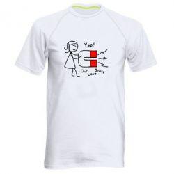 Купить Мужская спортивная футболка 2302Our love story2, FatLine
