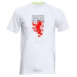 Мужская спортивная футболка A Lannister always pays his debts - FatLine