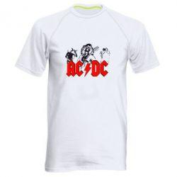 Мужская спортивная футболка AC DC - FatLine