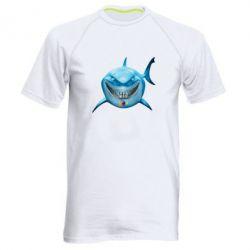 Мужская спортивная футболка Акула улыбается