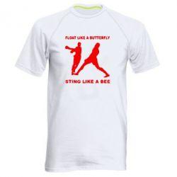 Мужская спортивная футболка Ali: Float Like A Butterfly - FatLine