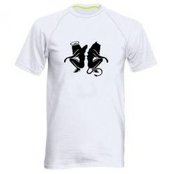 Мужская спортивная футболка Ангел и Демон - FatLine