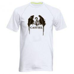Мужская спортивная футболка Ангел Кастиэль - FatLine