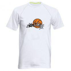 Мужская спортивная футболка Angry ball - FatLine