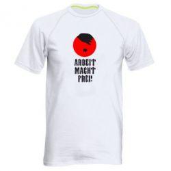 Мужская спортивная футболка Arbeit Macht Ftei Hitler - FatLine