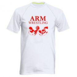 Мужская спортивная футболка Arm Wrestling - FatLine
