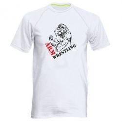 Купить Спорт, Мужская спортивная футболка Arm Wrestling, FatLine