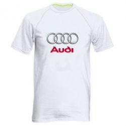 Мужская спортивная футболка Audi 3D Logo - FatLine