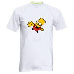 Мужская спортивная футболка Барт Симпсон