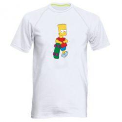 Мужская спортивная футболка Bart Simpson - FatLine