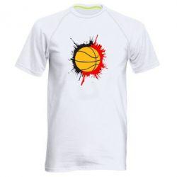 Мужская спортивная футболка Баскетбольный мяч - FatLine