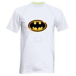 Мужская спортивная футболка Batman logo Gold - FatLine