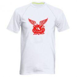 Мужская спортивная футболка Байк с крыльями - FatLine