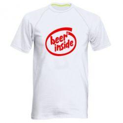 Мужская спортивная футболка Beer Inside - FatLine