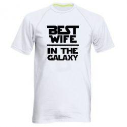 Мужская спортивная футболка Best wife in the Galaxy
