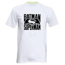 Мужская спортивная футболка Бэтмен vs. Супермен - FatLine