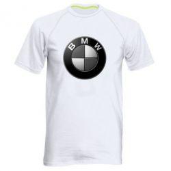 Мужская спортивная футболка BMW Black & White - FatLine
