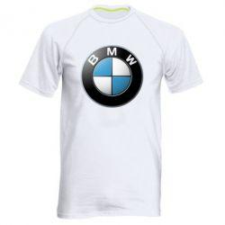 Мужская спортивная футболка BMW Logo 3D - FatLine