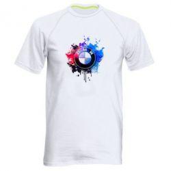 Мужская спортивная футболка BMW logo art 2 - FatLine